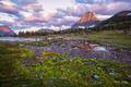 GNP, Glacier National Park, Hidden Lake Hike, Logan's Pass, Montana, Reynolds Mountain, Summer, Tarn, hiking, sunset