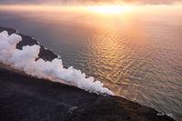 Lava, Sunrise, Helicopter, 61G, Lava, Hawaii, Big Island