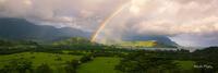 Hanalei,Hanalei Overlook,Kauai,Princeville, Rainbow, Hawaii