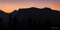 2014,canadian rockies, backcountry, crescent moon, moonset, sunrise