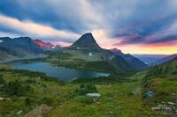 glacier national park, MT, Montana, GNP, logan's pass, hidden lake, sunset, storm
