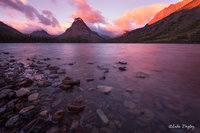 glacier national park, MT, Montana, GNP, two medicine lake, sunrise, sinopah mountain, east glacier