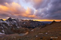 Blue Lakes Pass, Southwest Colorado, San Juan Mountains, Sunrise, Mt. Sneffels Wilderness