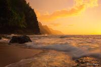Kauai,Ke'e Beach,Princeville,sunset, Hawaii, North Shore