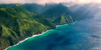 Heli,Helicopter Flight,Kauai,Mid-Day,Napali Coast,Princeville,Rain, Hawaii