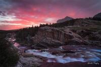 glacier national park, MT, Montana, GNP, many glacier, swiftcurrent falls, sunrise