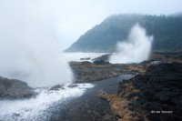 Thor's Well, Rain, Waves, Cape Perpetua, OR