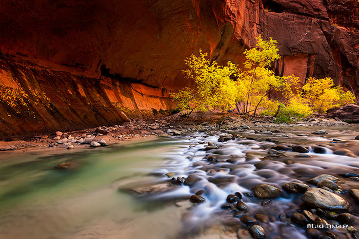 Utah, Zion National Park, The Narrows, Fall