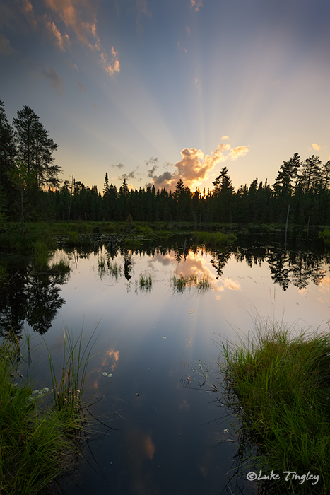 BWCA, Boundary Water Canoe Area, Northern Minnesota, Minnesota, Summer, Sunset, Backcountry