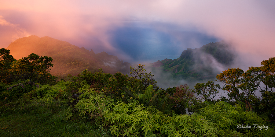 Kalalau,Kalalau lookout,Kauai,Lehua Island,Ni'ihau Island,Princeville,Waimea Canyon,sunset, Hawaii, photo