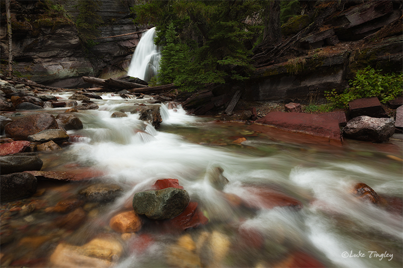 Baring Falls, Glacier National Park, MT, Montana, Waterfall, GNP , photo