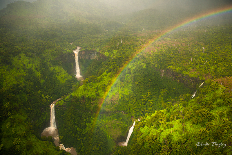 Heli,Helicopter Flight,Doors Off, Kauai,Napali Coast,Princeville,Rain, Rainbow, Waterfalls, Hawaii, photo