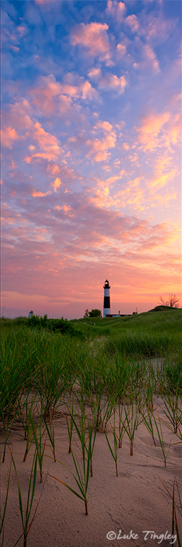 Dawn on the horizon, Big Sable Point in the distance, and an amazing light show to kick off a beautiful morning.