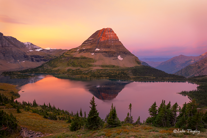 glacier national park, MT, Montana, GNP, hidden lake, sunrise, logan's pass