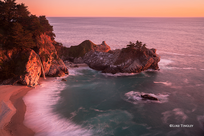 McWay Falls, Big Sur, Julia Pfeiffer Burns State Park, CA, Sunset, Mc Way Falls, photo