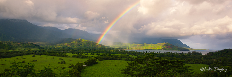 Hanalei,Hanalei Overlook,Kauai,Princeville, Rainbow, Hawaii, photo