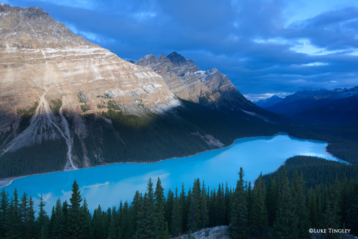 Blue, Peyto Lake, Banff National Park, photo