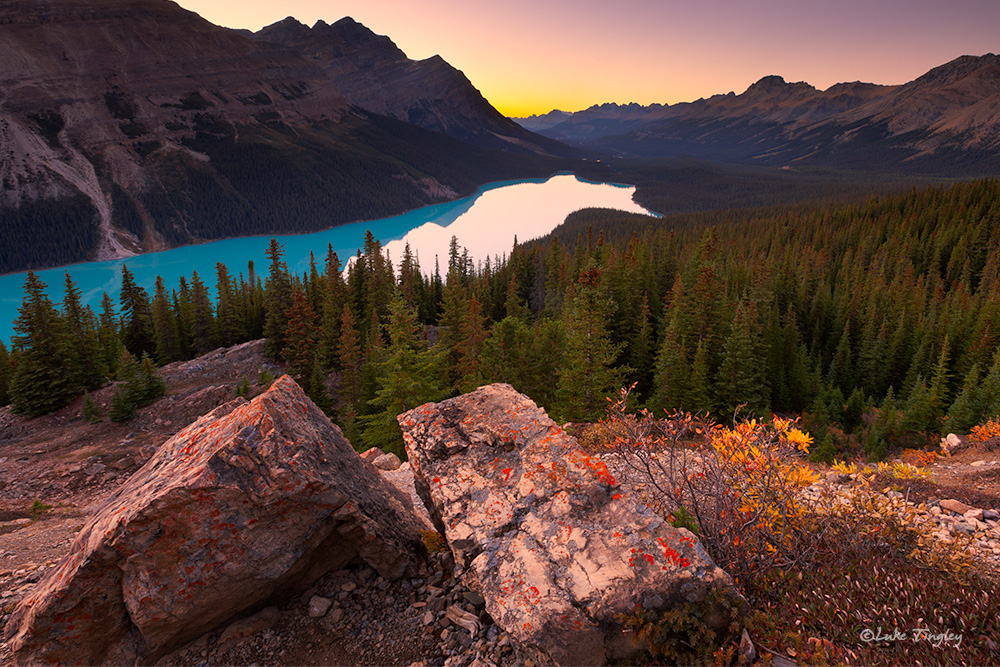 2014,Alberta,canadian rockies,sunset, banff national park, peyto lake, fall, canada, photo