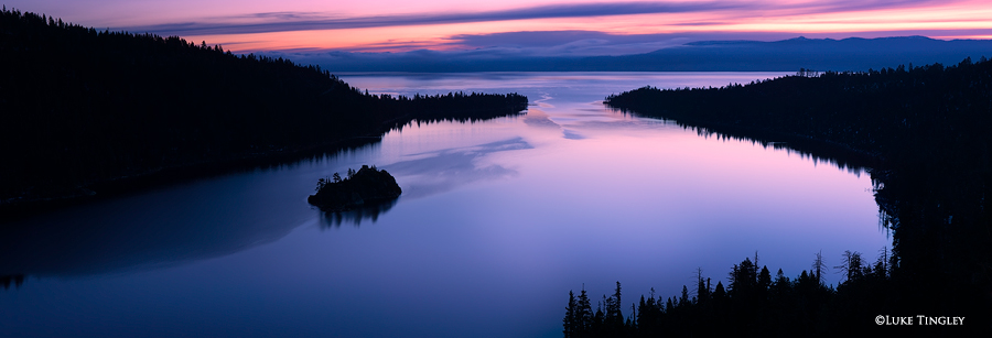 Early morning light on a beautiful and serene Emerald Bay on Lake Tahoe.