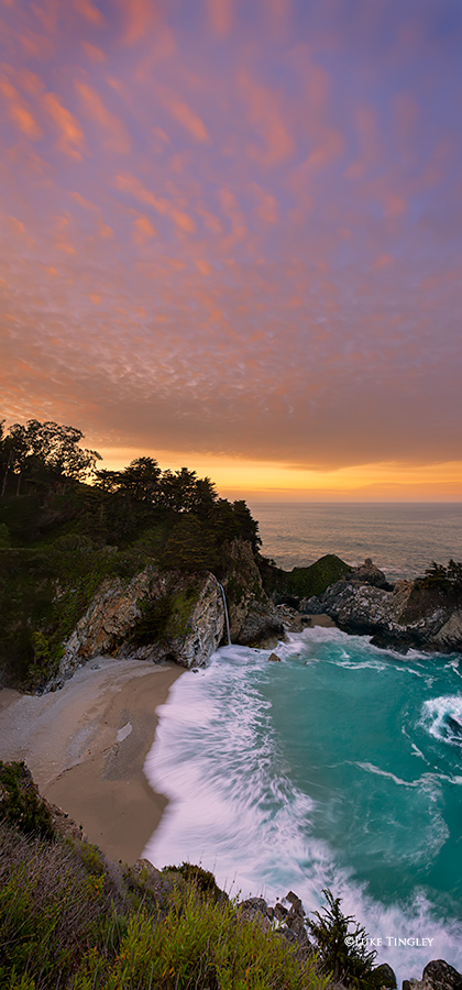 McWay Falls, Big Sur, Julia Pfeiffer Burns State Park, CA, Sunset, photo
