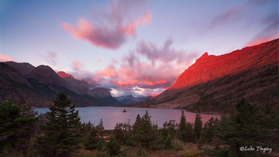 glacier national park, MT, Montana, GNP, wild goose island, sunrise, going to the sun road