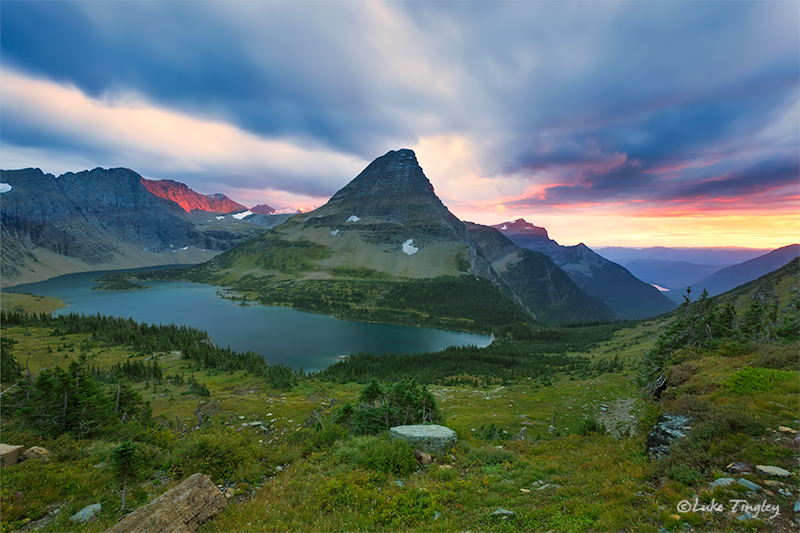 glacier national park, MT, Montana, GNP, logan's pass, hidden lake, sunset, storm, photo