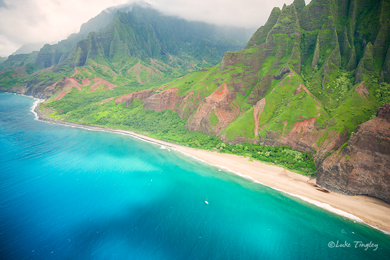 Heli,Helicopter Flight,Kauai,Mid-Day,Napali Coast,Princeville,Rain, Hawaii, photo