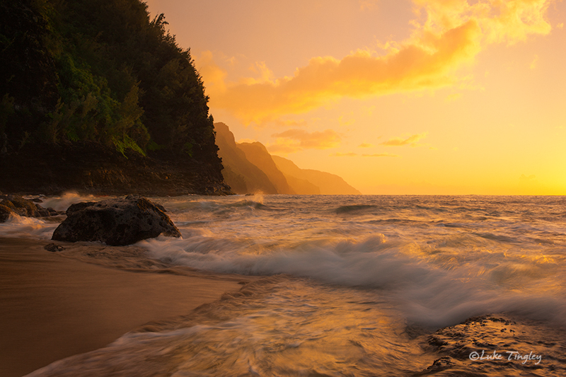 Kauai,Ke'e Beach,Princeville,sunset, Hawaii, North Shore, photo