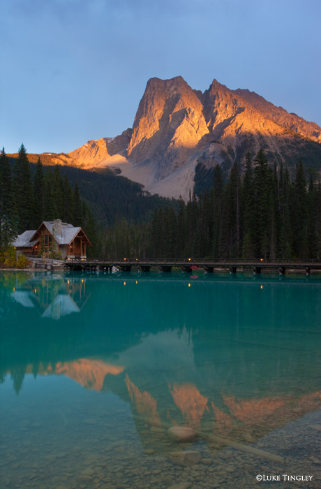 Sunset, Emerald Lake, Yoho National Park, Canada, photo