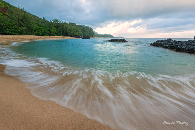 Kauai,Lumaha'i Beach,Princeville, North Shore, Hawaii