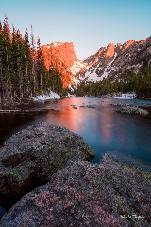 Sunrise at Dream Lake.