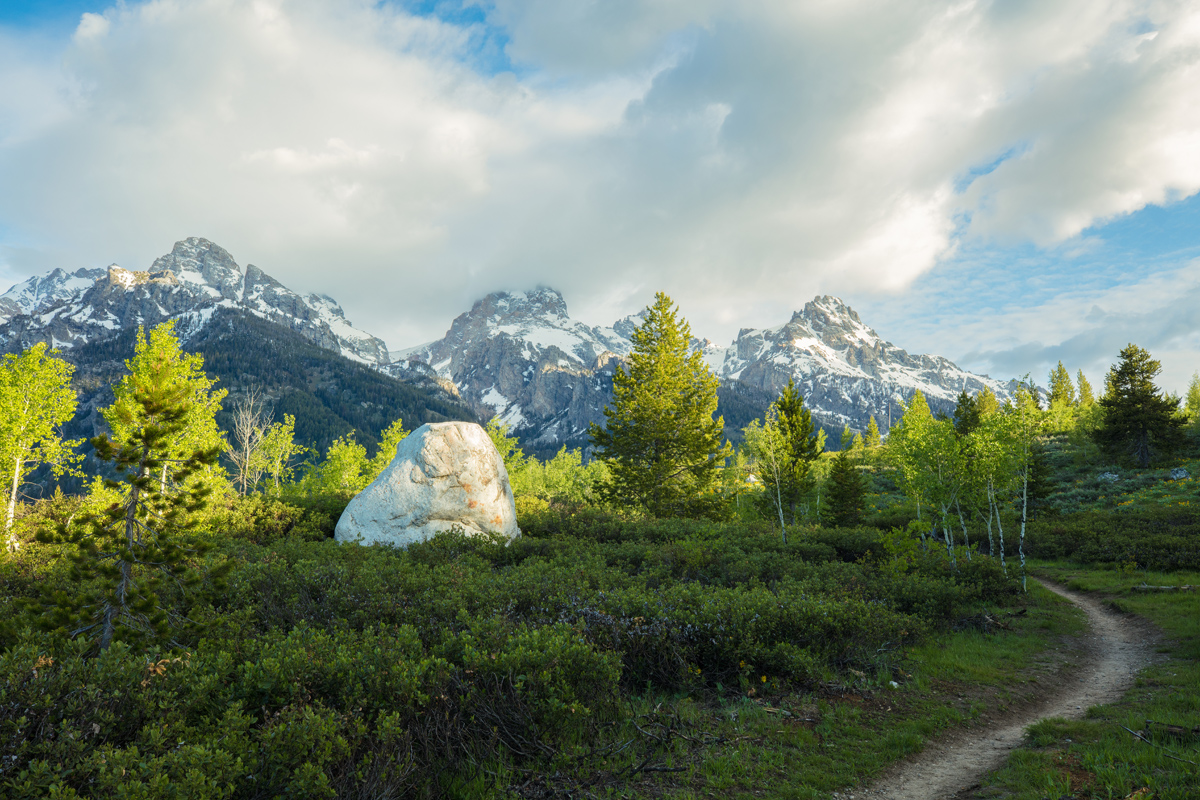 Grand Tetons National Park, Taggart Lake Trail, Wyoming