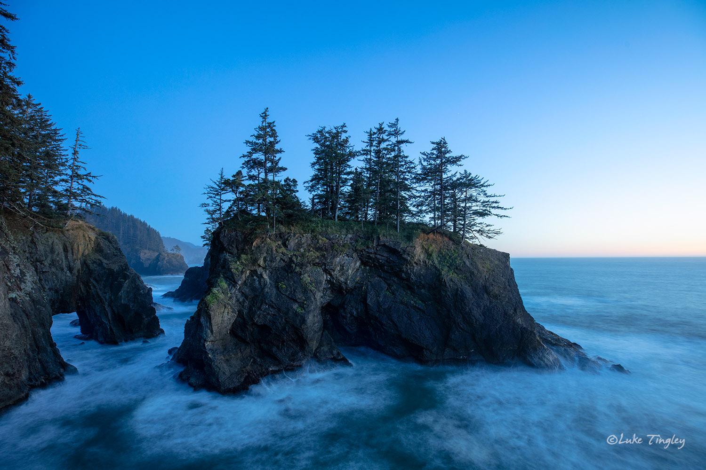 Samuel H. Boardman State Scenic Corridor, Oregon, Sunset, Sea Arches, Sea Stacks, Pacific Ocean