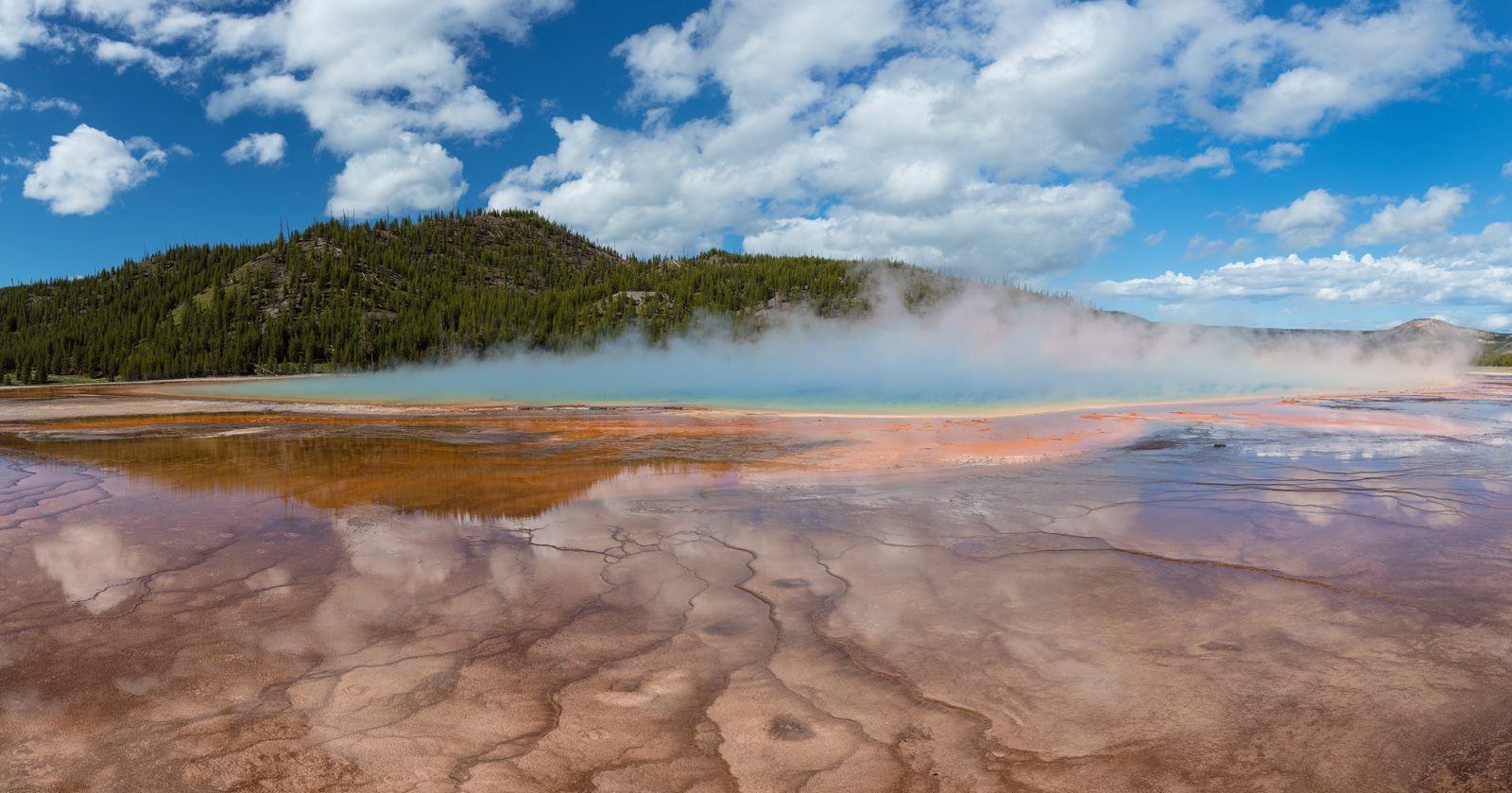 Grand Prismatic Hot Spring, Wyoming, yellowstone national park, photo