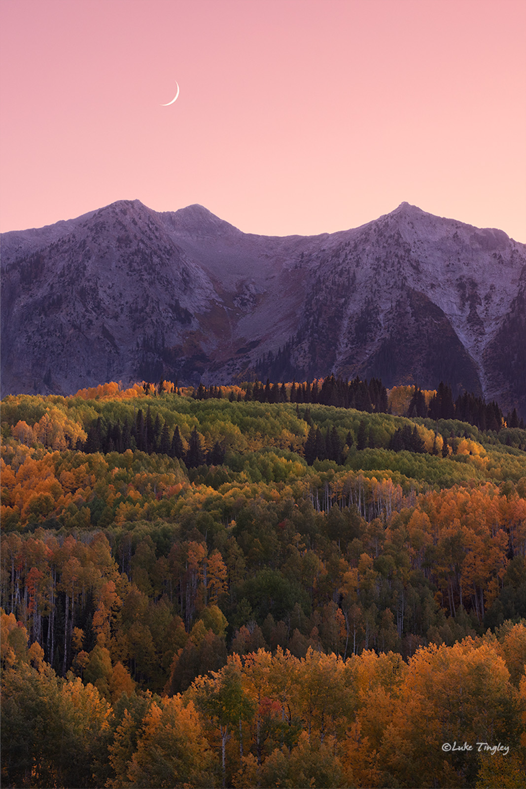 Beckwith Mountain right at twilight.