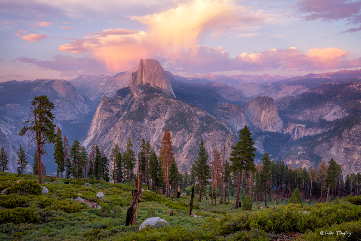 2016, Backcountry, Glacier Point, Halfdome, Wilderness, Yosemite, Yosemite National Park, august, sunset, photo
